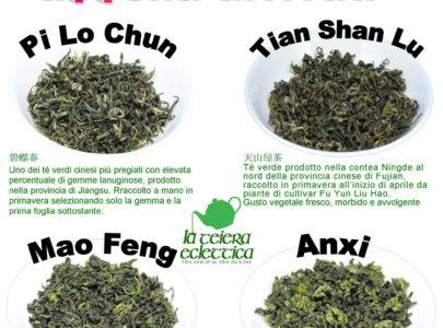 Tè primaverili dalla Cina